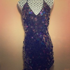 Forever 21 Purple Sequin Dress S